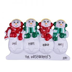 Snowmen Table Top Family of 4