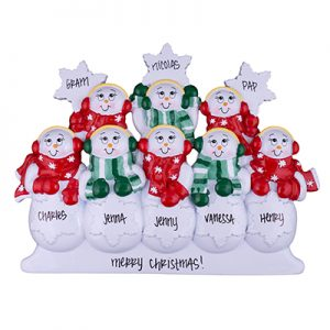 Snowmen Table Top Family of 8
