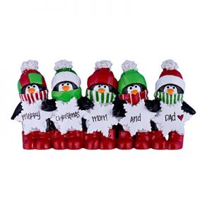 Penguin Table Top Family of 5