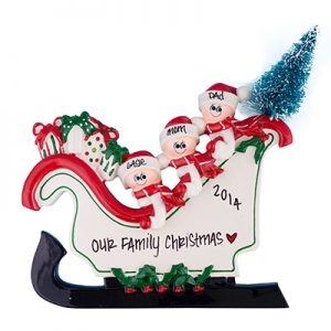 Sleigh Table Top Family of 3