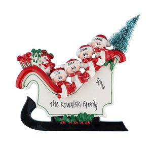 Sleigh Table Top Family of 4