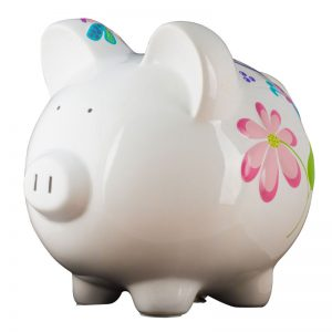 Butterfly Dragonfly Piggy Bank - Large