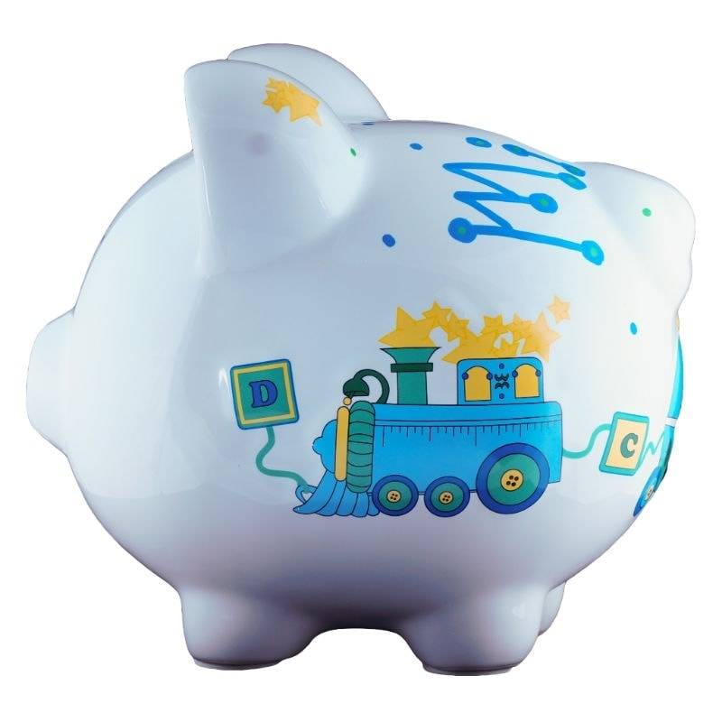 Duck train piggy bank large - Coin banks for boys ...