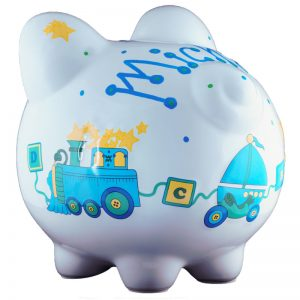 Duck Train Piggy Bank - Large