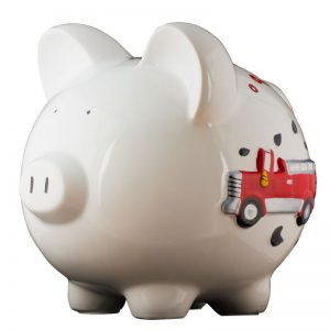 Firetruck Piggy Bank - Large
