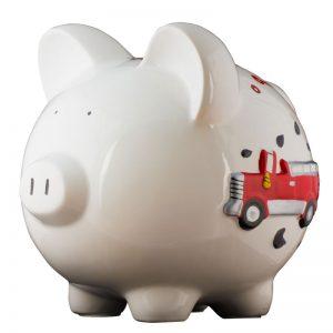 Firetruck Piggy Bank - Large