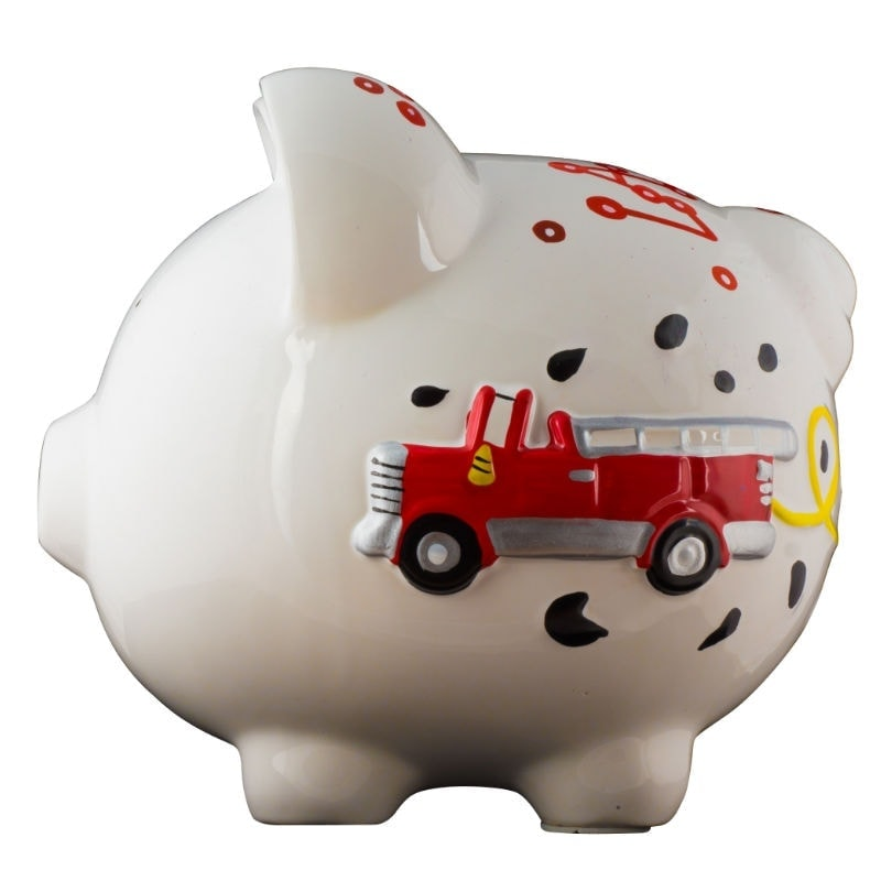 Firetruck piggy bank large - Coin banks for boys ...