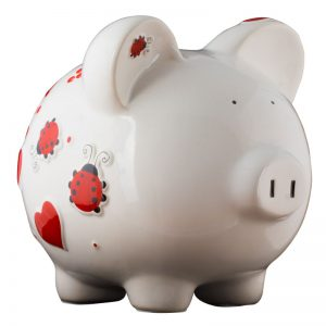 Red Ladybug Piggy Bank - Large