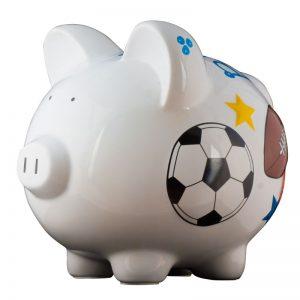 Sports Piggy Bank - Large