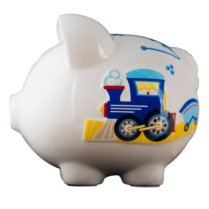 Train piggy bank large - Coin banks for boys ...