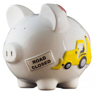 Work Truck Piggy Bank - Large