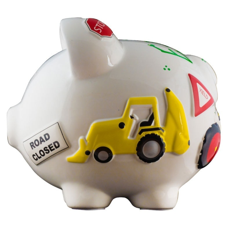 Work truck piggy bank large - Coin banks for boys ...