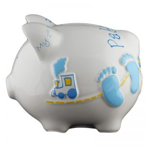 Baby Blue Piggy Bank - Small