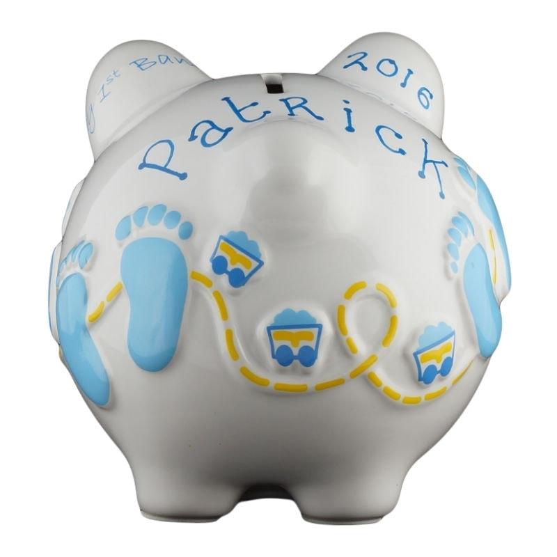Baby Blue Boys Piggy Bank Small