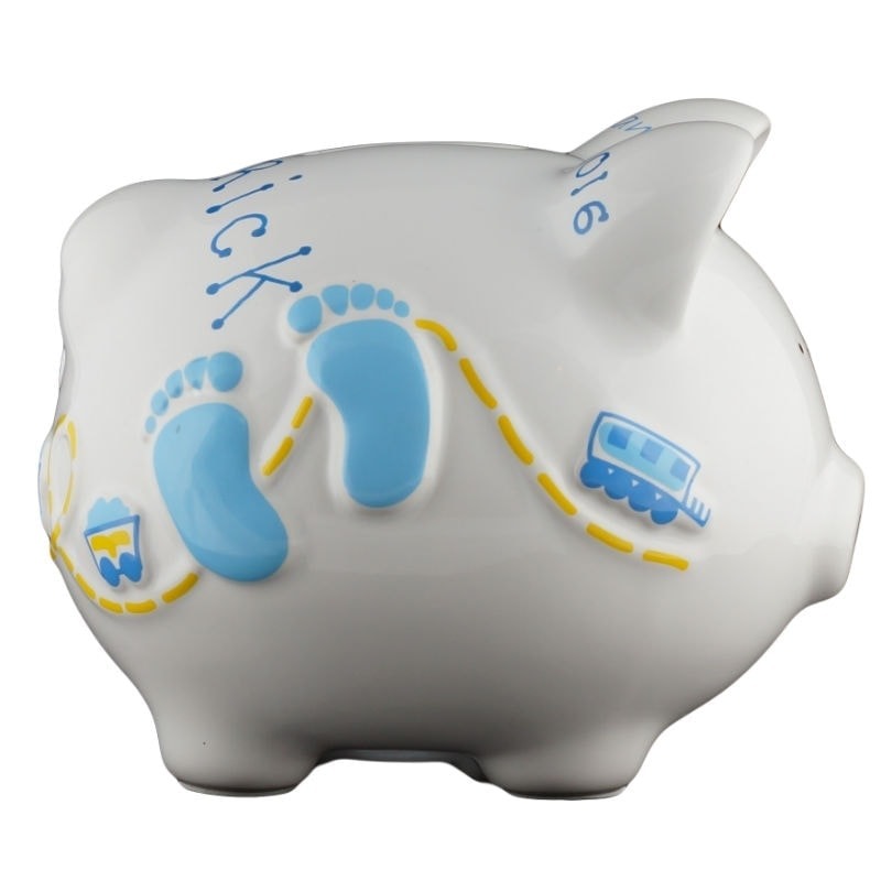 Baby Blue Boys Piggy Bank Small