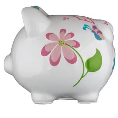 Small Butterfly Dragonfly Piggy Bank