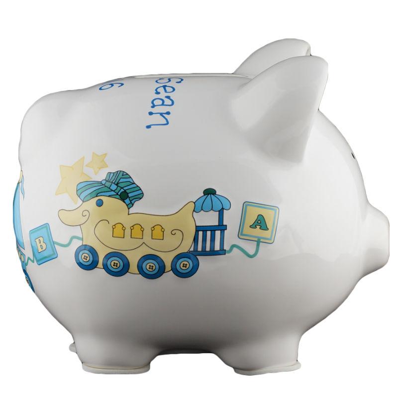 Duck train piggy bank small - Train piggy banks ...
