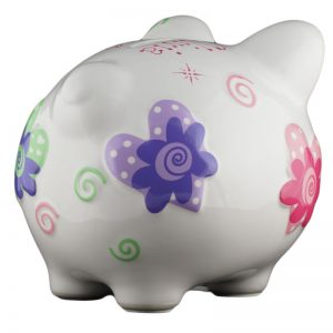 Hearts Piggy Bank - Small