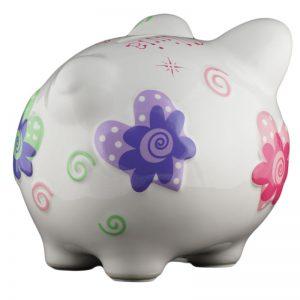 Hearts Piggy Bank - Small