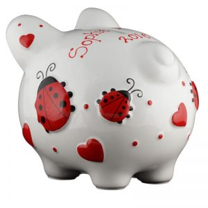 Red Ladybug Piggy Bank - Small