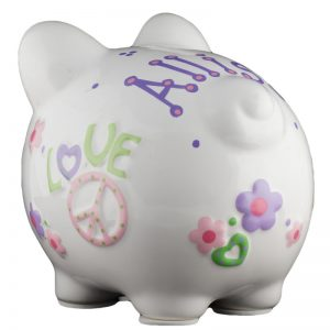 Peace & Love Piggy Bank - Small