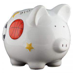 Sports Piggy Bank - Small