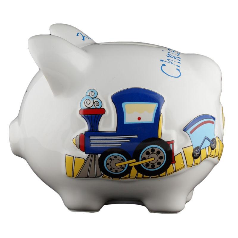 Train piggy bank small - Train piggy banks ...