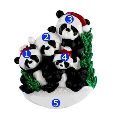 Panda Family of 4