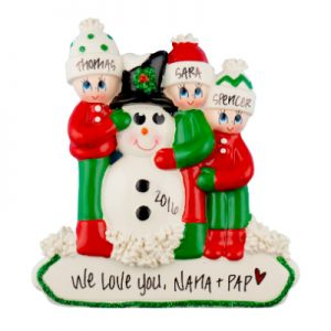 Snowman Family of 3