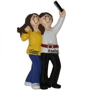 Selfie BFF Personalized Ornament