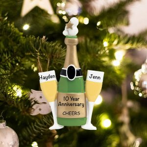 Personalized Cheers Champagne Christmas Ornament