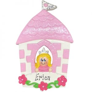 Princess Castle Girl - Blonde Personalized Ornament