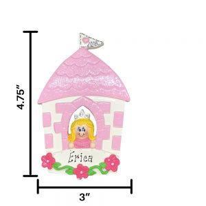Princess Castle Blonde Personalized Christmas Ornament
