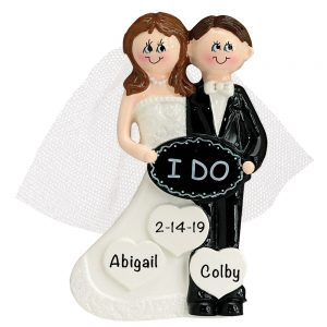 I Do Married Personalized Christmas Ornament