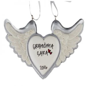 White Heart Glitter Angel Wings