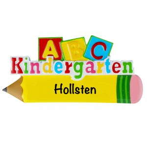 Kindergarten Personalized Christmas Ornament