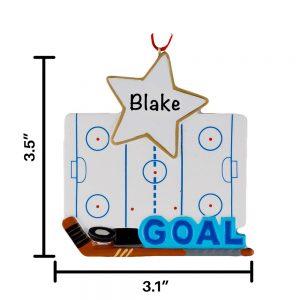 Hockey Goal Personalized Christmas Ornament