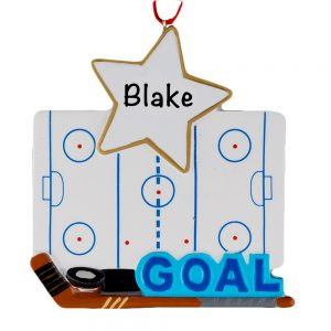 Ice Hockey Rink Personalized Christmas Ornament