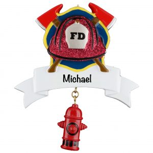 Fire Fighter Equipment Personalized Christmas Ornament