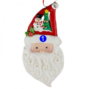 Santa Face with Fancy Hat