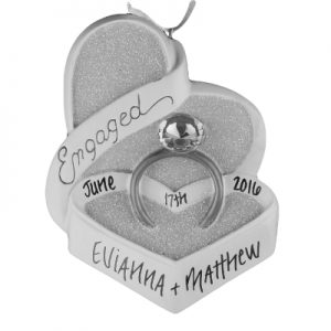 Engaged Heart Box Ring
