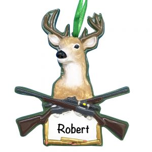 Deer Hunting Personalized Christmas Ornament