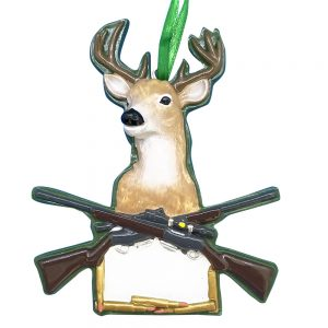 Deer Hunting Personalized Christmas Ornament - Blank