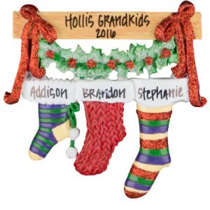 Christmas Stocking Family of 3