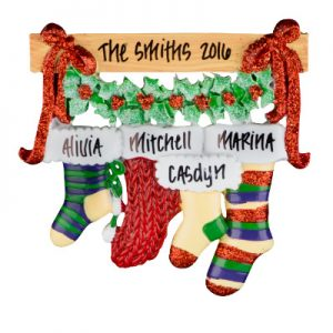 Christmas Stocking Family of 4