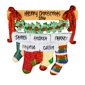 Christmas Stocking Family of 5
