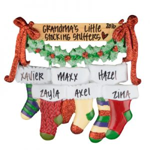 Christmas Stocking Family of 6