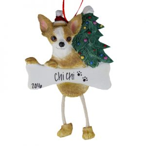 Chihuahua (Fawn) Christmas Ornament