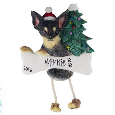 Chihuahua (Black & Tan) Christmas Ornament