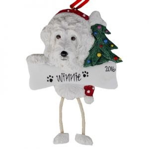 Labradoodle (White) Christmas Ornament